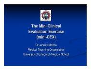 The Mini Clinical Evaluation Exercise (mini-CEX)