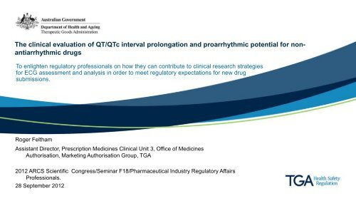 Presentation The Clinical Evaluation Of Qt Qtc Interval Prolongation