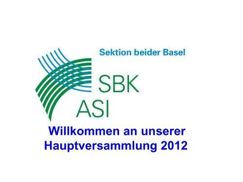 HV Präsentation 2012 - Schweizer Berufsverband der ...