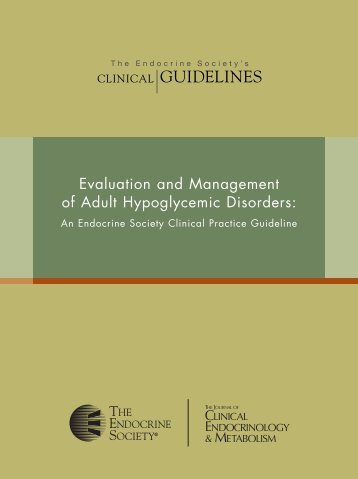 Evaluation & Management of Adult Hypoglycemic Disorders