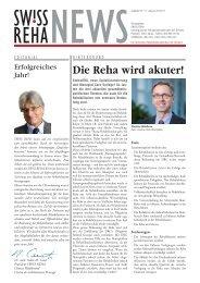 Die Reha wird akuter! - bei der Reha Rheinfelden