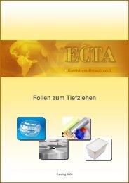 Folien zum Tiefziehen - ECTA Handelsgesellschaft mbH
