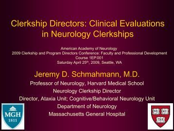 Clinical Evaluations in Neurology Clerkships - American Academy of ...
