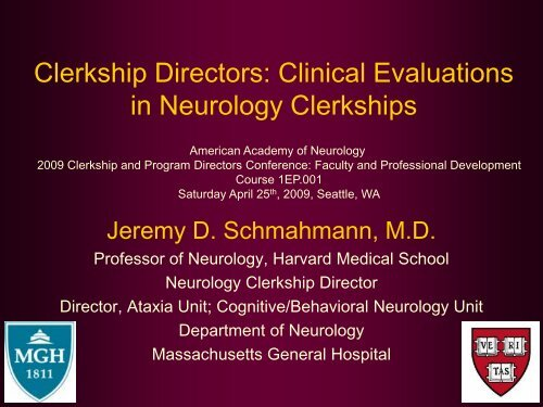 Clinical Evaluations in Neurology Clerkships - American