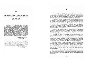 la medicina clinica en el siglo xvii - Facultad de Medicina Virtual