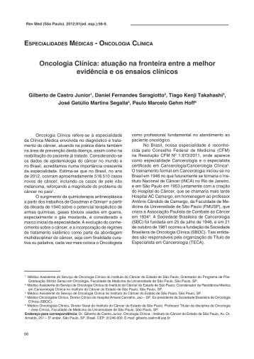 Oncologia Clínica - Revista de Medicina