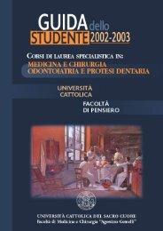 guida dello studente 2002/2003 - Università Cattolica del Sacro Cuore