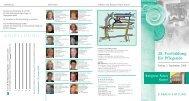 Flyer, 28. Fortbildung für Pflegende - B. Braun Stiftung
