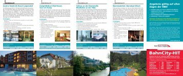 BahnCity-HIT - Rail Tours Austria