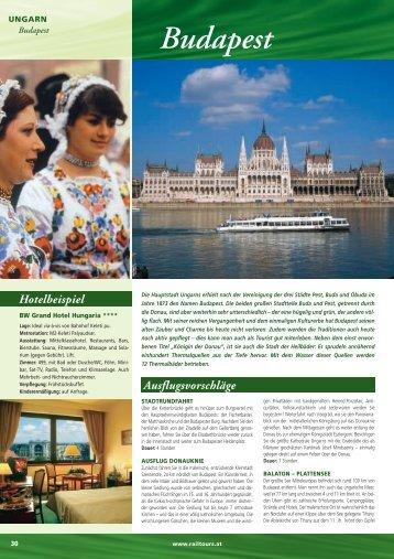 Budapest - Rail Tours Austria