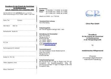 Clinic-Plan GmbH Grundkurs für medizinisches Hilfspersonal