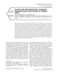 Guanxi and organizational dynamics: organizational networking in ...