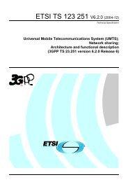 Universal Mobile Telecommunications System (UMTS     - ETSI