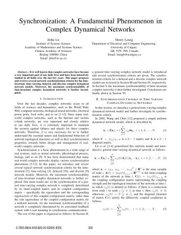 a fundamental phenomenon in complex dynamical networks
