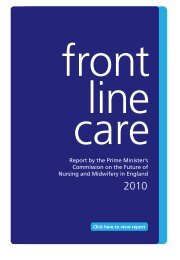 Report by the Prime Minister's Commission on the Future of Nursing ...