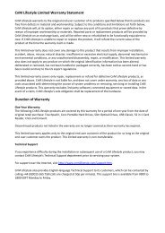 CnM Lifestyle Limited Warranty Statement ... - KMS Components