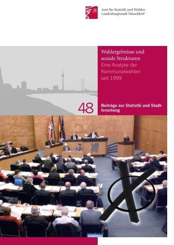 Wahlergebnisse und soziale Strukturen - Eine ... - Stadt Düsseldorf