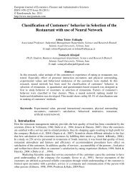 Classification of Customers' behavior in Selection of ... - EuroJournals