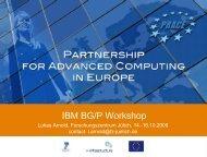 IBM BG/P Workshop - Prace Training Portal
