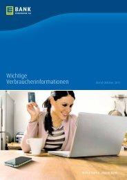Wichtige Verbraucherinformationen - EDEKABANK AG