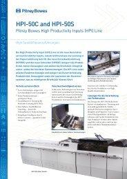HPI-50C and HPI-50S - Pitney Bowes