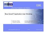 Blue Gene/P Application User Worshop - scc.acad