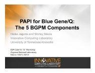 PAPI for Blue Gene/Q - Argonne National Laboratory