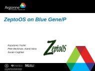 ZeptoOS on Blue Gene/P