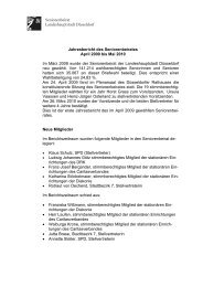 Jahresbericht des Seniorenbeirates April 2009 ... - Stadt Düsseldorf