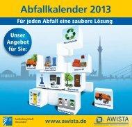 Abfallkalender 2013, barrierefrei - Awista