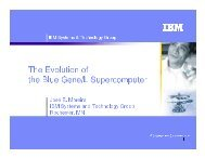 The Evolution of the Blue Gene/L Supercomputer