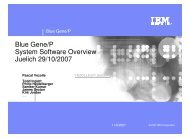 Blue Gene/P System Software Overview Juelich 29/10/2007