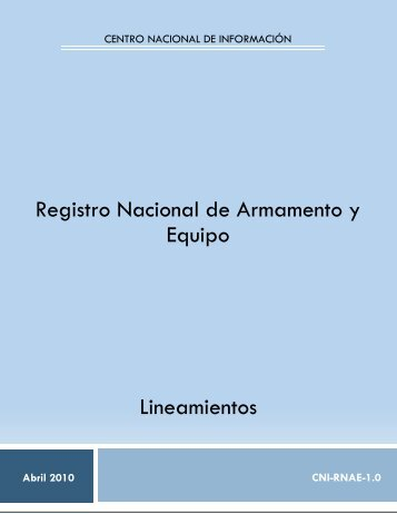 Lineamientos del Registro Nacional de Armamento y ... - SE SNSP
