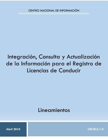 Integración, Consulta y Actualización de la Información ... - SE SNSP