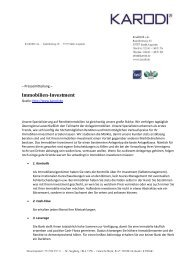 Immobilien-Investment