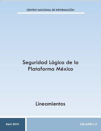 LINEAMIENTO SEGURIDAD LÓGICA V1 - SE SNSP