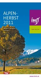 ALPEN- HERBST 2011 - Tourismusverband Imst-Gurgltal