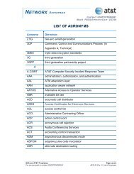 LIST OF ACRONYMS - AT&T