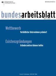 bundesarbeitsblatt - Bundesministerium für Arbeit und Soziales