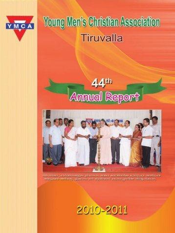 YMCA Thiruvalla Annual Report 2010-2011