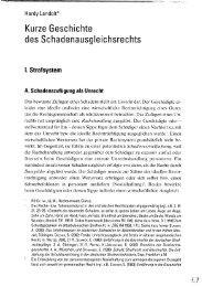 Kurze Geschichte des Schadenausgleichsrechts - Hardy-Landolt.ch