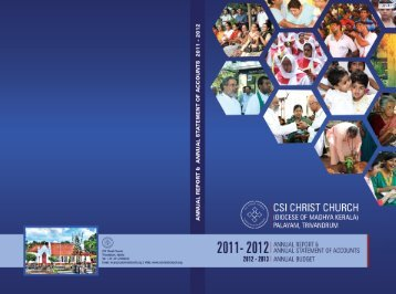 CSI Christ Church Annual Report 2011 -12 - Sesquicentennial ...
