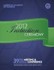 2012 international new Fellows - American Academy of Nursing