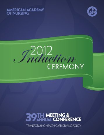2012 international new Fellows - American Academy of Nursing