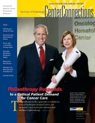 Philanthropy Responds - Washington Hospital Center