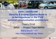 CVIS – SEVECOM Security & Access Control Aspects to be ...