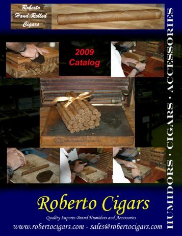 Products Catalog 2009 - Roberto Cigars