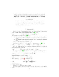 INEQUALITIES FOR THE NORM AND THE NUMERICAL ... - ajmaa