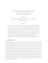 A No-Arbitrage Determinant Theorem for Uncertain Stock Model
