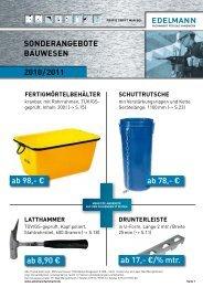 Sonderangebot Bauwesen 2010/2011 - EDELMANN - Fachmarkt für ...